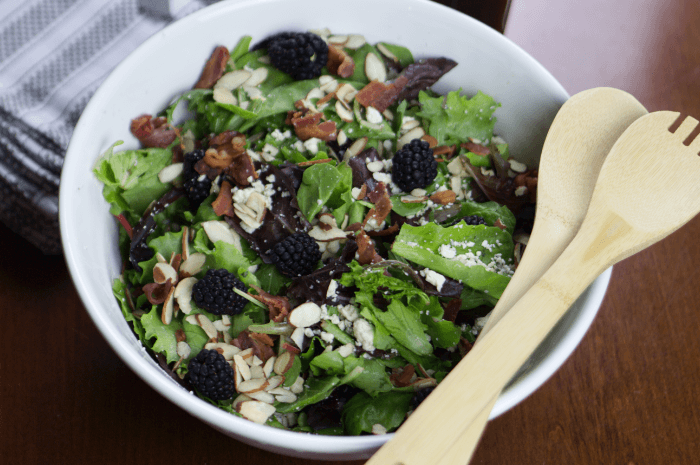 Blackberry Bacon and Blue Cheese Salad