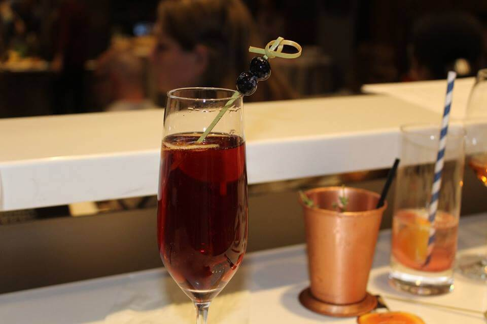 Bourbon Blueberries & Bubbles Cocktail Recipe by Roger McQueen of Elevage Tampa