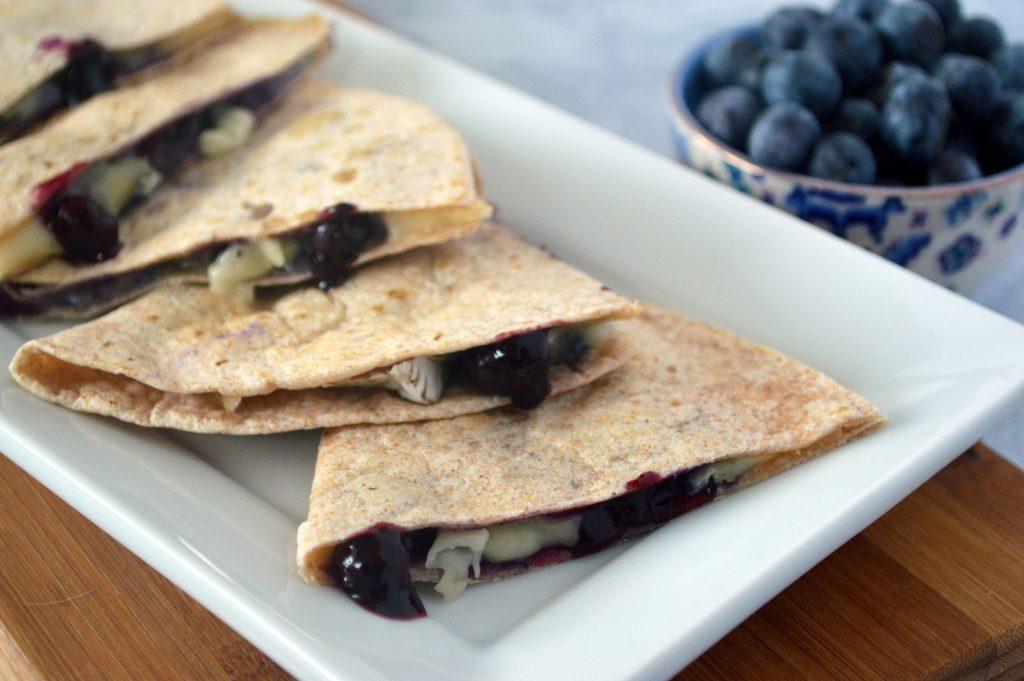 Blueberry & Brie Quesadillas landscape