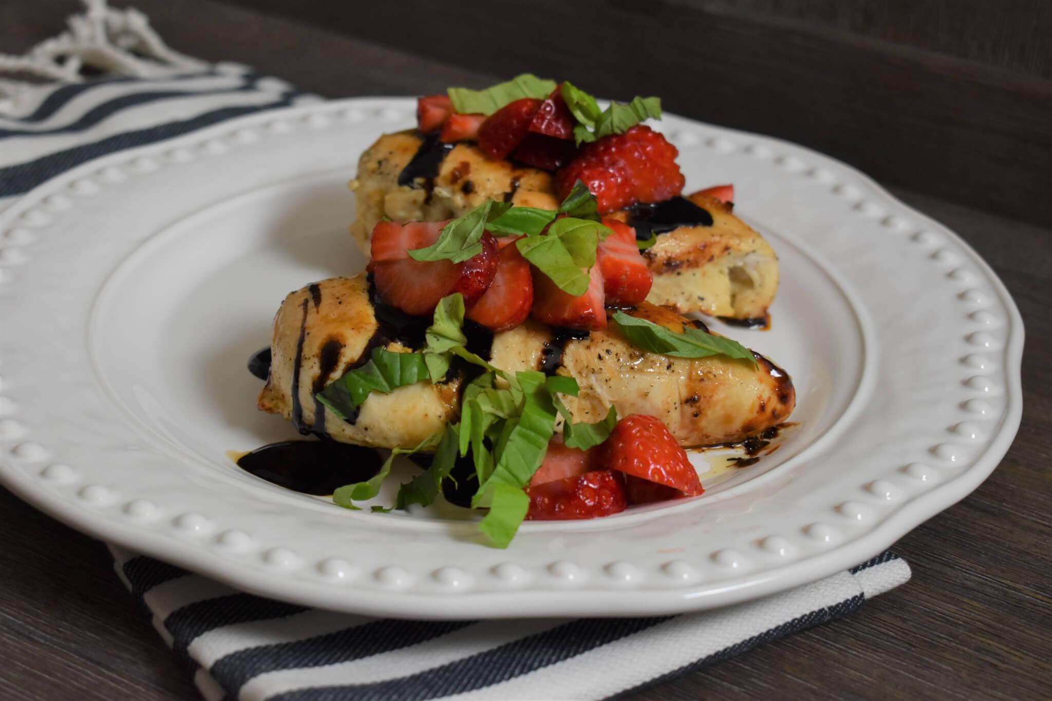 Strawberry Balsamic Glazed Chicken Wish Farms Dinner