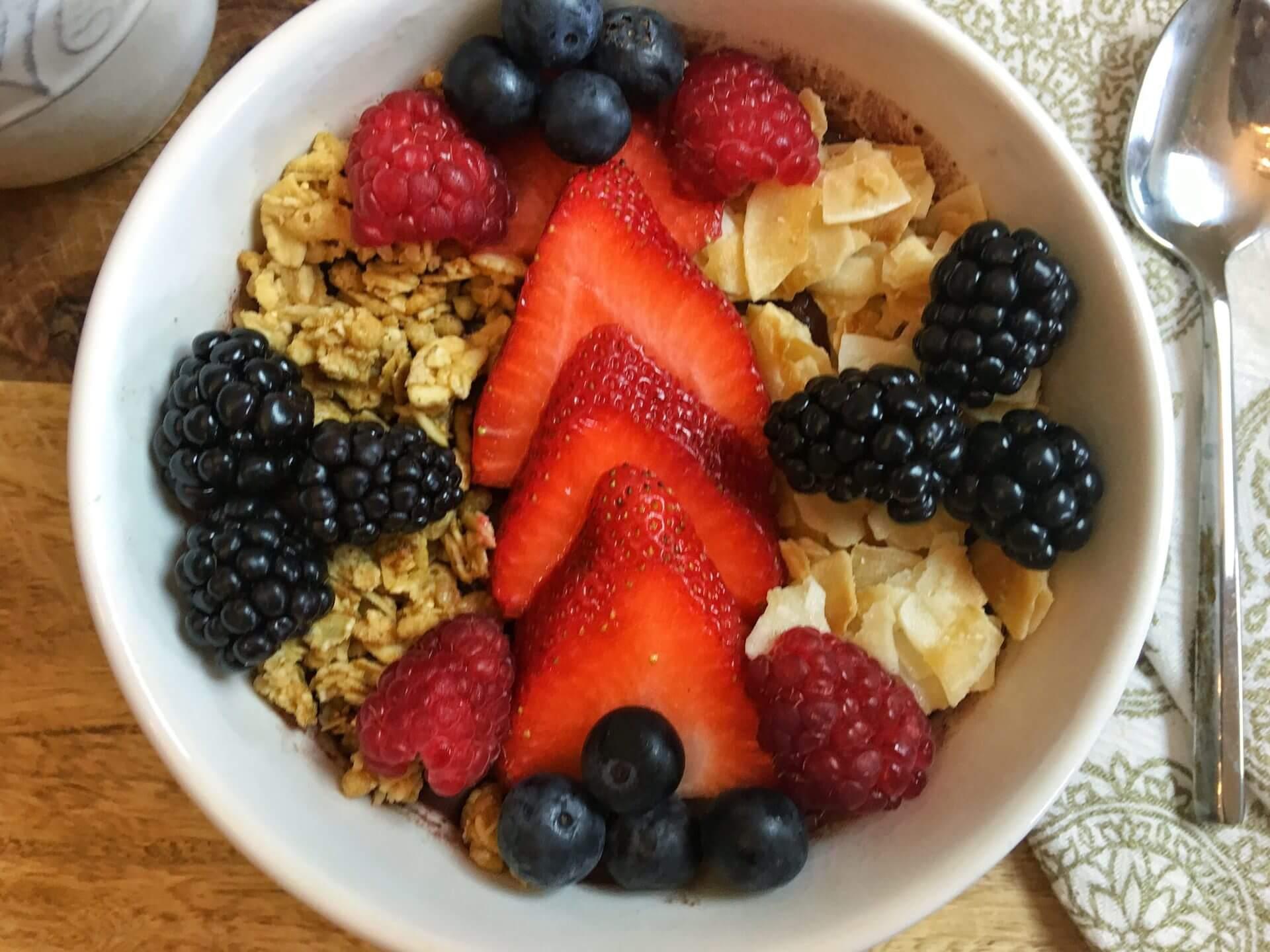 Wish Farms Healthy Recipe 4 Berry Acai Bowl