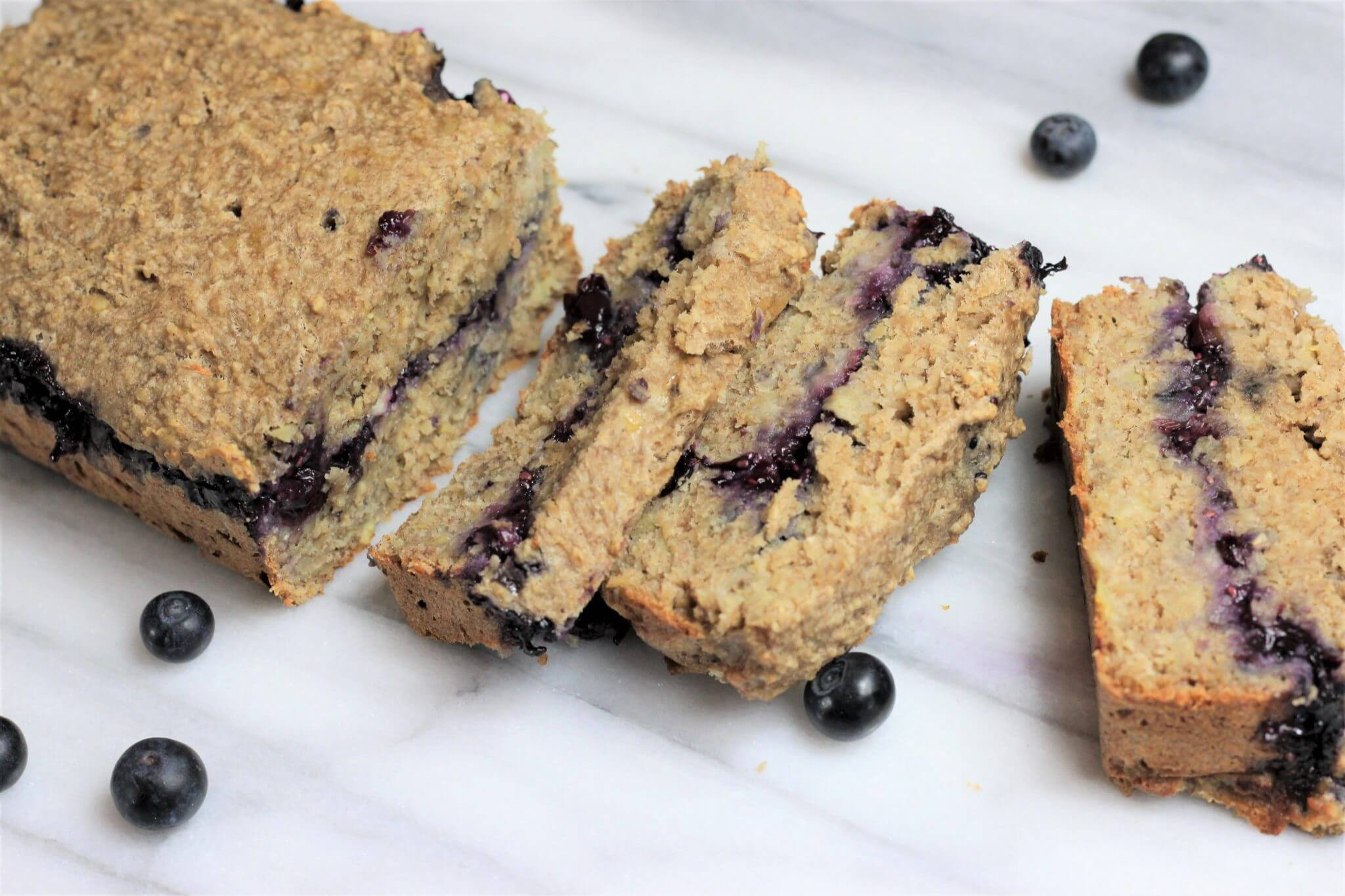 Stuffed Blueberry Banana Bread