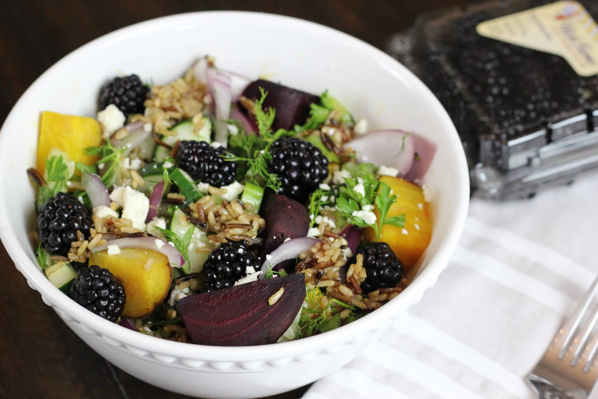 Wild Rice & Beet Salad