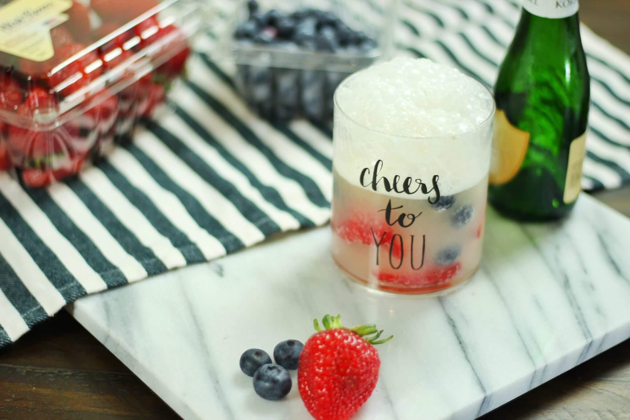 sparkling cream spritzer