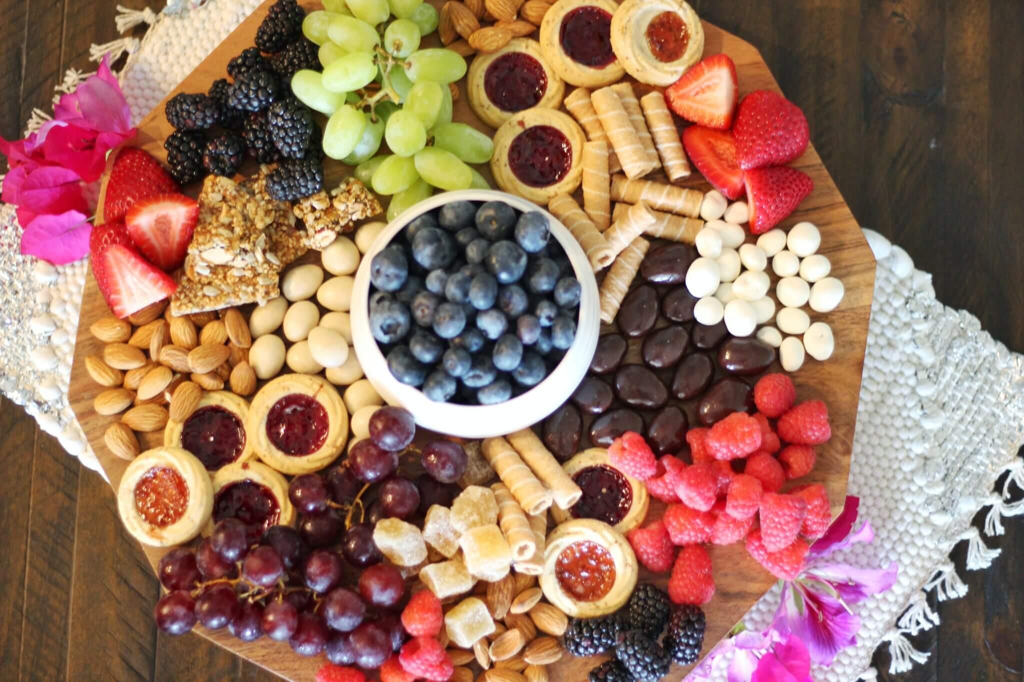 Springtime Grazing Platter Wish Farms Organic Florida Berry Farm