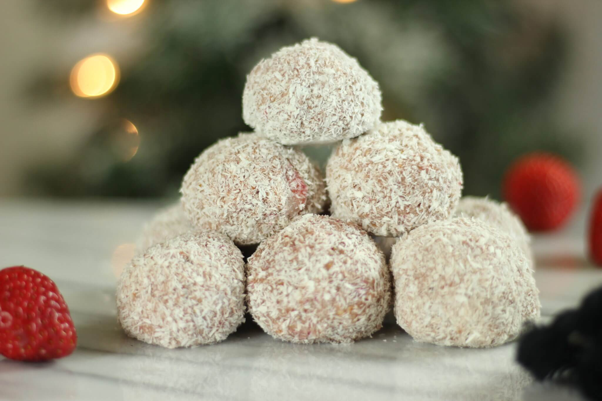 Strawberry Snowballs