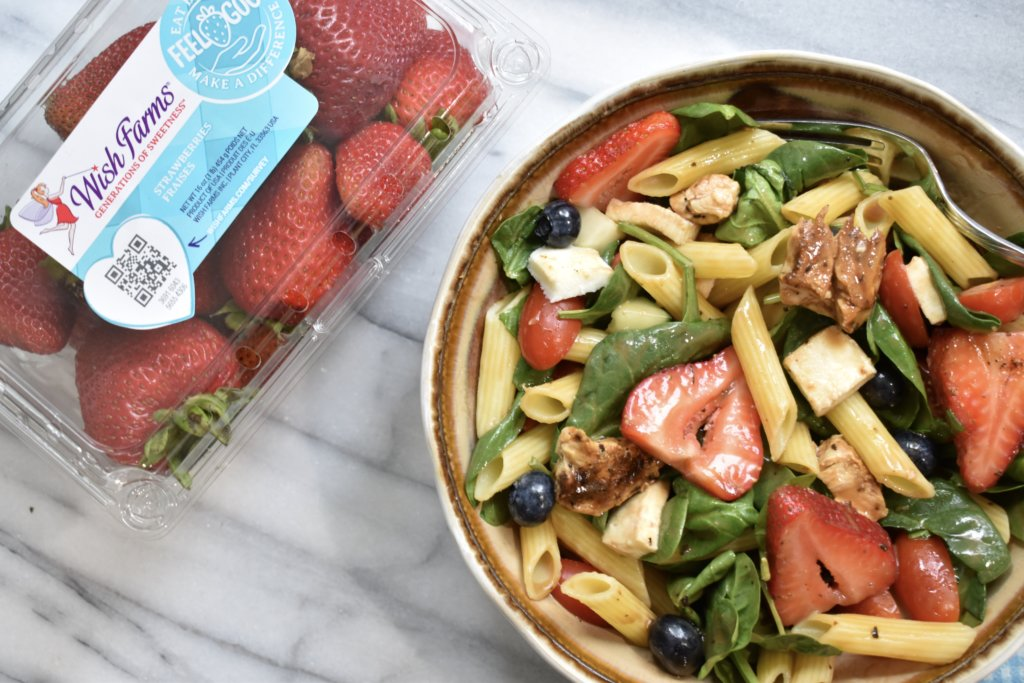 healthy berry balsamic pasta salad recipe