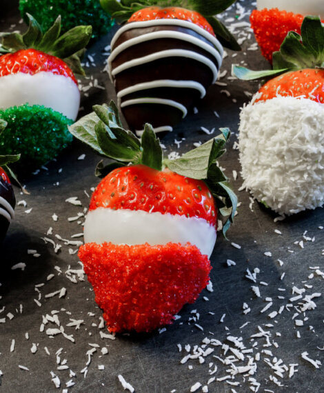 Holiday Dipped Berries