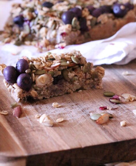 Blueberry Oatmeal Superfood Bars