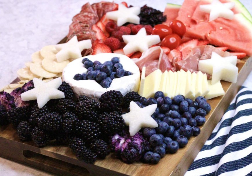 Red, White & Blue Charcuterie Board